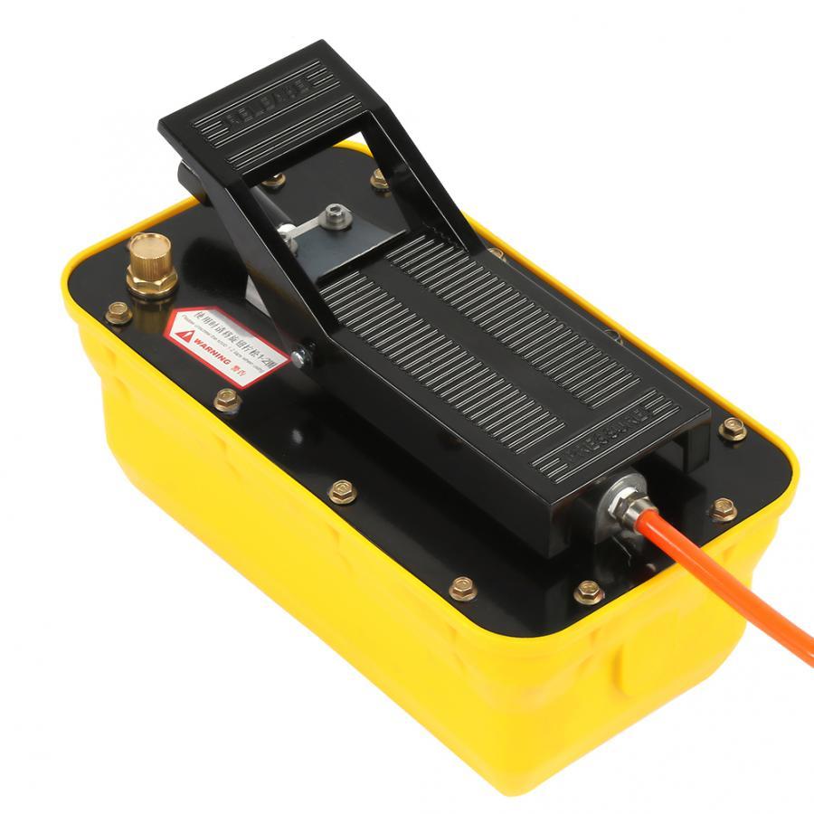 Pompe à pied hydraulique 2.3L Air 3/8 NPT à simple effet pneumatique avec coupleur de tuyau pompe hydraulique pneumatique - 5