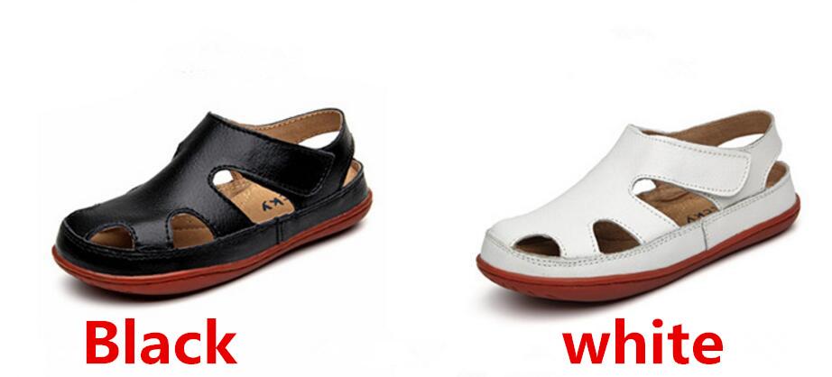 Children's leather sandals-16