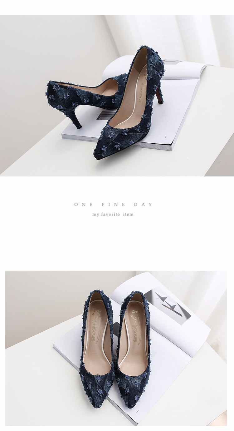New arrival Denim Ladies Shoes pointed toe high heels Free Shipping! HTB1z2NvSFXXXXXxXXXXq6xXFXXXN