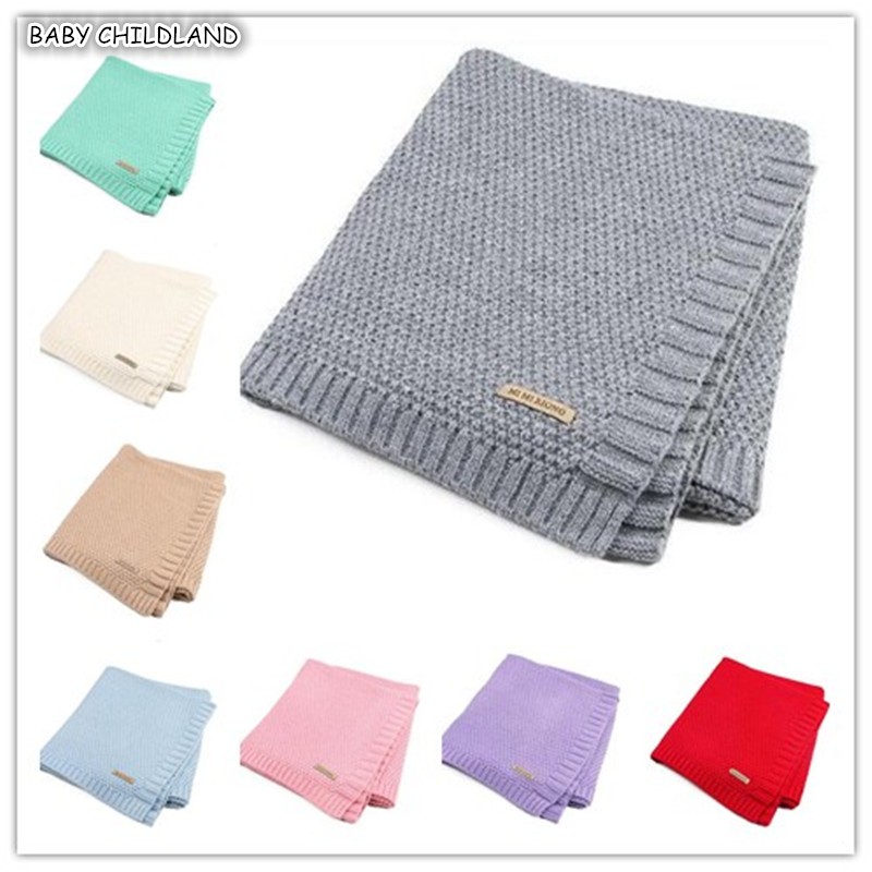 цена Baby Blanket Knitted Newborn Swaddle Wrap Blankets Super Soft Toddler Infant Bedding Quilt For Bed Sofa Basket Stroller Blankets