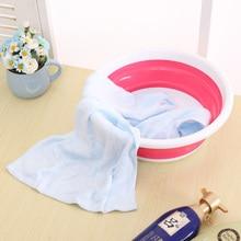 Simple life plastic wash basin folding bucket portable camping fishing car washing tool kitchen bathroom accessories 3 colors