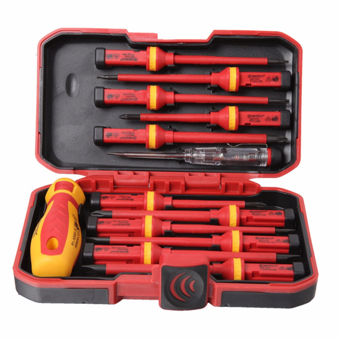 13pcs Screwdrivers Set Insulated Electrical Screwdriver Kit Multi-purposes for 1000V Power Electrician Hand Tool Mayitr high quality 9pcs hand screwdrivers set multi function screwdriver set