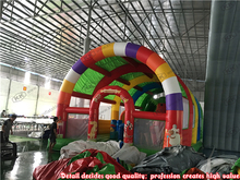 Children Entertainment Giant inflatable fun city with roof inflatable factory