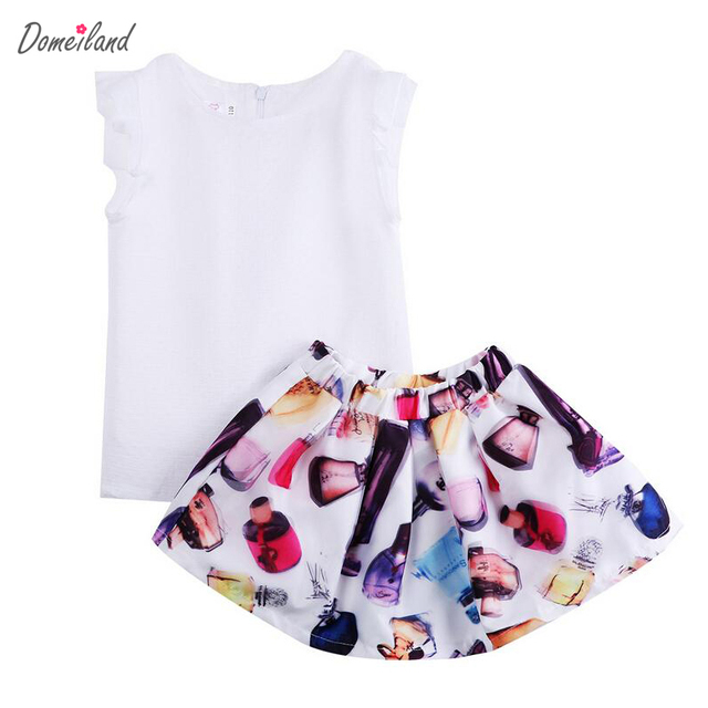 047d9eb3dde7 2017 fashion summer domeiland baby clothing for kids girls outfits ...