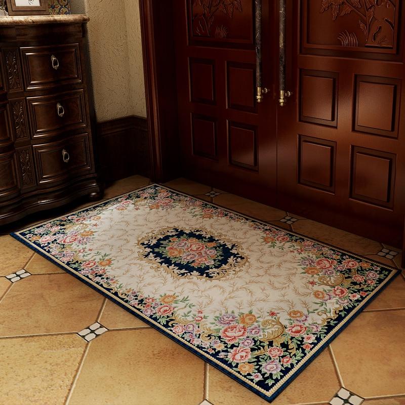 Honlaker European Pastoral Jacquard Carpet Living Room ...