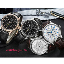 2019 luxury top brand 42mm parnis white Black dial watch mens sapphire glass miyota Automatic Mechanical Men's business Watch цена и фото