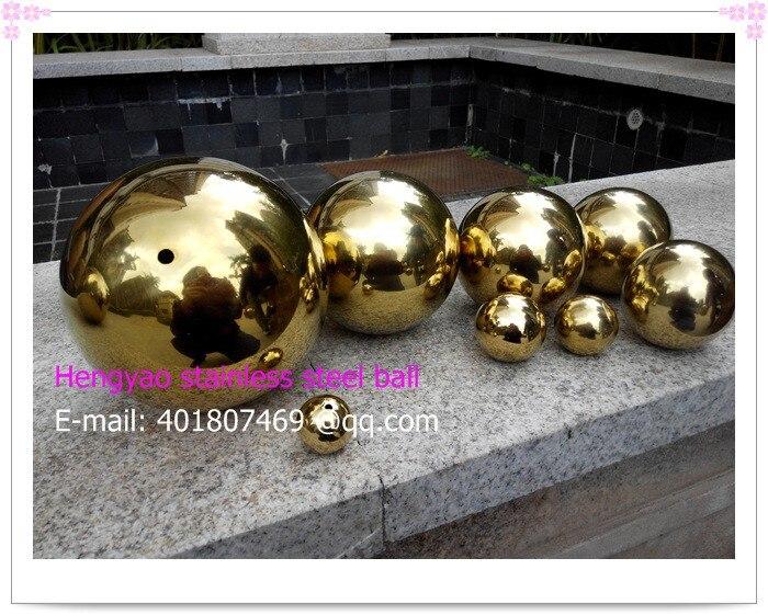 42 мм в диаметре Золотой шарик из нержавеющей стали, полый шар, шар украшение, Titanium покрытие, ktv, магазины, бары, отели декоративные