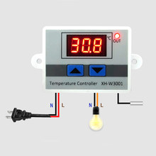 12V 24V 110V 220V Digital LED Temperature Controller For Incubator Cooling Heating Switch Thermostat NTC Sensor Metal