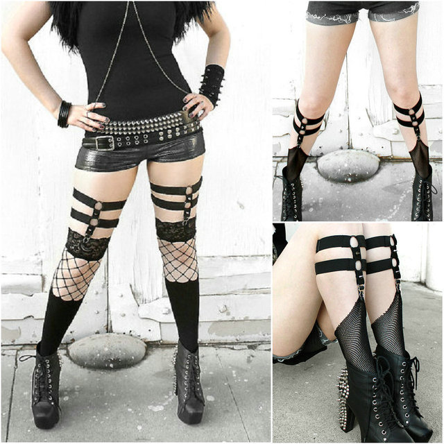 2016 new pastel goth suspender belt for stocking gothic sexy lingerie  stocking with garter belt retail