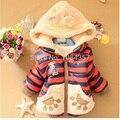 1 шт. Розничная мальчиков Медведь Зимнее Пальто, дети верхняя одежда, дети хлопок толстые теплые толстовки куртки мальчики одежда DW0101