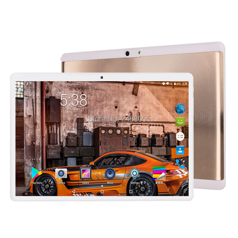 2019 New Tempered 2.5D Glass Android 9.0 Octa Core 10 Inch Tablet 6GB RAM 64GB ROM 1280x800 HD IPS 4G LTE GPS Youtube Pad