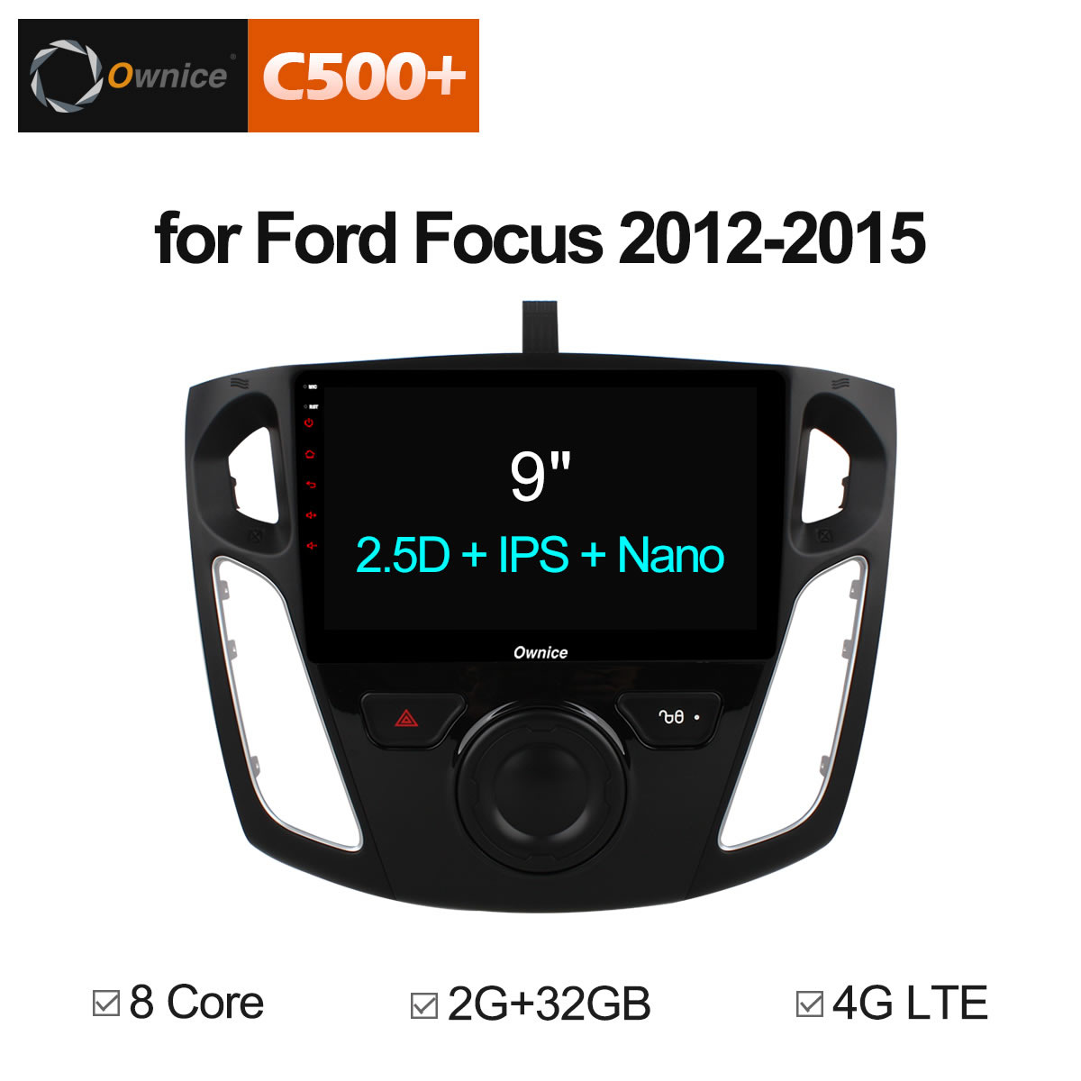 Ownice C500+ G10 Octa 8 Core Android 8.1 Car Radio Player GPS Navi For ford 2012 - 2015 Focus 3 Support DVD 4G Sim Car DAB+ TPMS android 6 0 1 octa core capacitive car pc dvd radio gps for ford focus fusion explorer expedition f150 f500 escape edge mustang