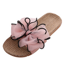 купить New Women Slippers Bow Summer Beach Shoes Female No Fur Slippers Flat Casual Solid Flip Flops Sandals Outdoor Slippers #YL5 по цене 151.92 рублей