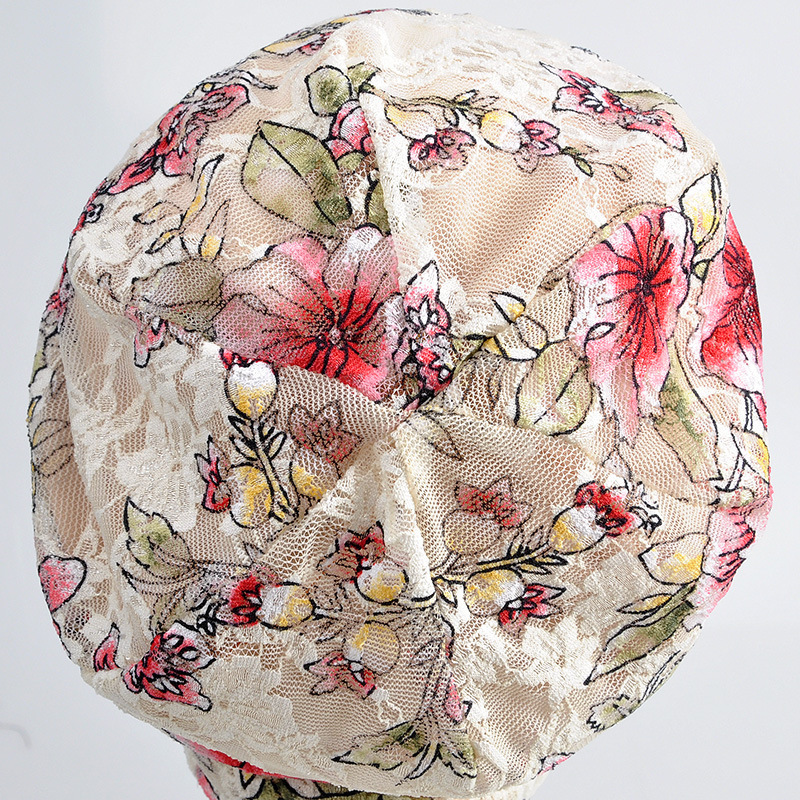 2018 new thin section of pregnant women confinement summer lace flowers breathable fashion Korean sets of hats for women gril