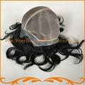 Настроенные женщины большой парик моно кружева вокруг пу Индийский реми волосы природных Леди Полный Cap Парики бесплатная доставка