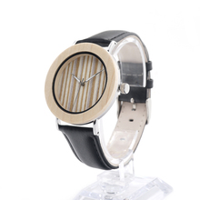 BOBO BIRD E22 Mens Fashion Causal White Maple Wood Bezel Ring Watch With Japan Quartz Movement