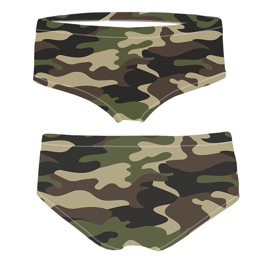 <font><b>2018</b></font> New Arrival 3D print PANTIES Fashion <font><b>Camouflage</b></font> Women's Briefs Thong Bragas Femme <font><b>Sexy</b></font> Panties For Women Erotic image