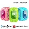 Y3 Crianças Inteligentes Assistir LBS GPS/GSM/Wifi Triplo Posicionamento Rastreador MonitorTwo Way Chamada SOS Anti-lost Relógio de Segurança crianças