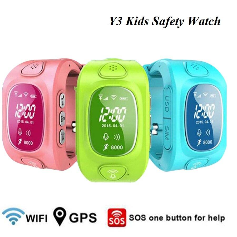 Y3 Smart Kids Watch LBS GPS/GSM/Wifi Triple Positioning Tracker MonitorTwo Way C