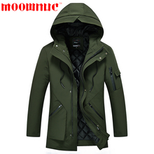 Parkas for Men Keep With hat Warm Winter Coats Free Shipping Casual Outwear Fashion Business Jackets Men Slim Fit Brand MOOWNUC