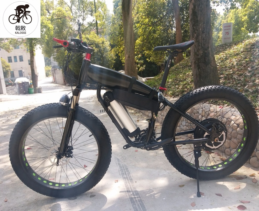 Just Kalosse Electrical Snow Bike 60v 1500w E-bike Hydraulic Brakes 27speed M370 Alloy 26*4.0 Tires Electric Fat Bike Back To Search Resultssports & Entertainment
