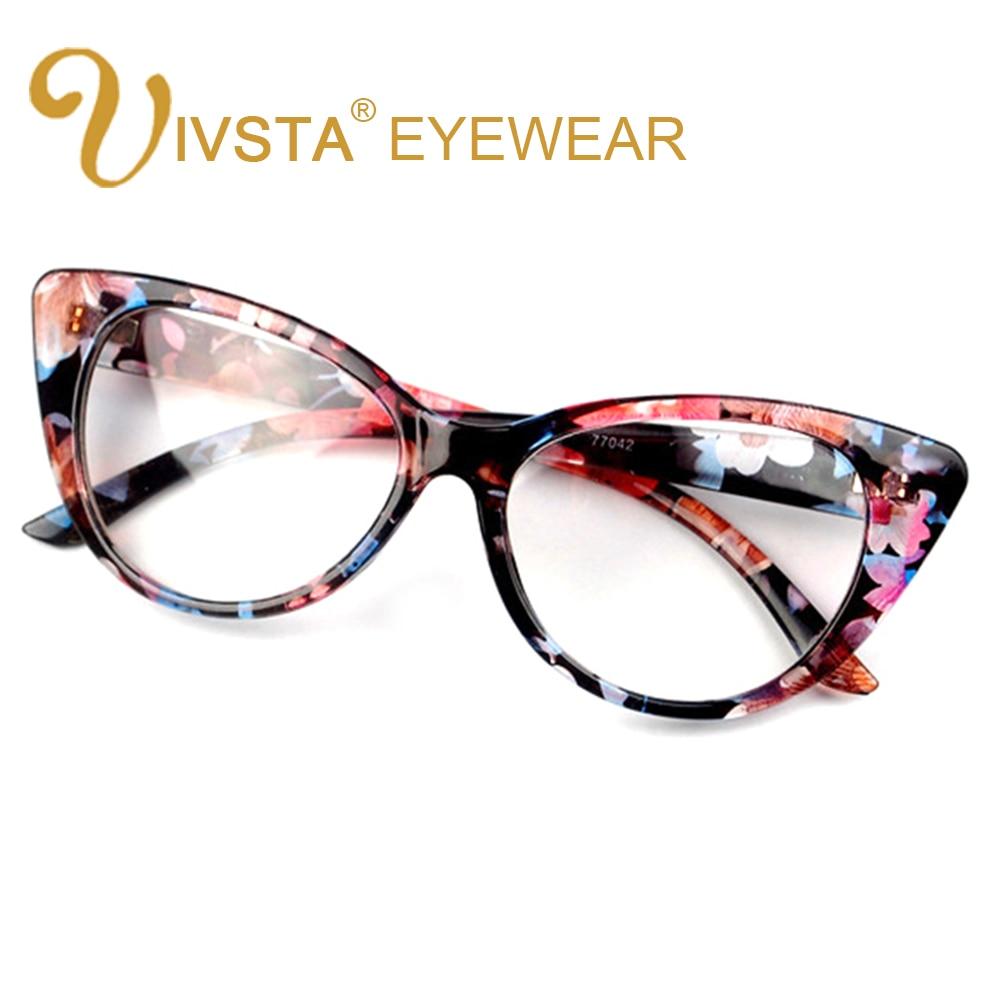 IVSTA Vintage Ladies Eyeglasses Cat Eye Clear Glasses Women Frame ...