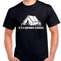 Tente Légitime Stratégie Woods D'incendie Seul Construire Mains Nues T-shirt 2017 D'été Hommes Marque Vêtements O-cou T-Shirt