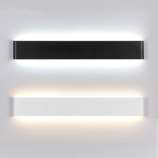 US $23.4 30% OFF|GZMJ Wunderland Moderne Schwarz/Weiß Wand Lampe Led  Spiegel Licht Bad Dekorative Wand Licht Innen Beleuchtung für Schlafzimmer  ...