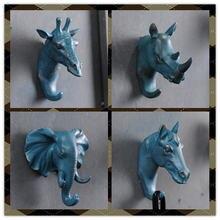 Декоративный крючок в виде Рино слона жирафа лошади животных