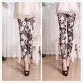 Женщины цветок печатных леггинсы summer тонкий старинные леггинсы для женщин/девушки тонкий высокой упругой брюки несколько цветов стилей 9020