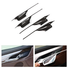 4pcs Car Styling ABS Chrome / Carbon Fiber Texture Door Handle Bowl Cover Trim for BMW X5 F15 X6 F16 2014 2015 2016 2017 2018 цена