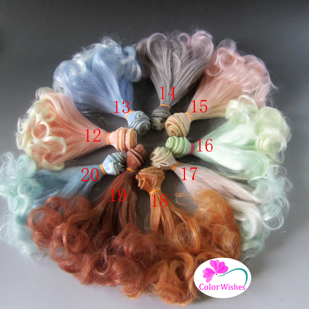 15cm&25cm*100cm Pear rolls doll wig hair for 1/3 1/4 1/6 BJD SD dolls accessories 1pcs hot sale sd bjd doll wig curly wig for dolls bjd 1 4 1 6 1 3