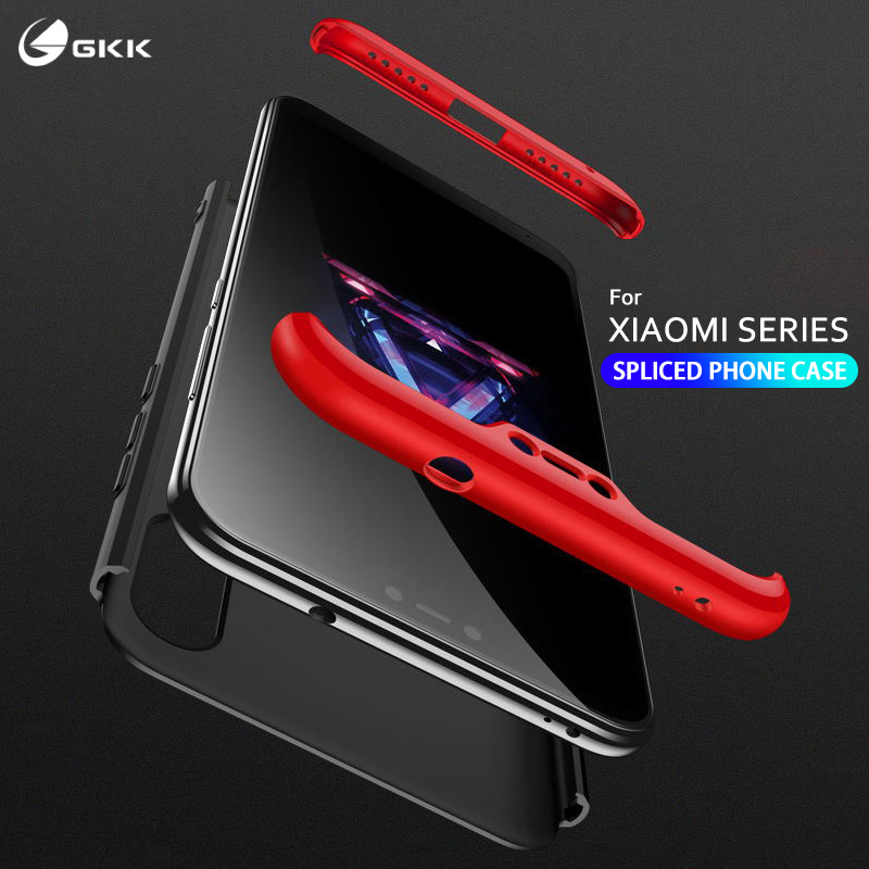 GKK luxury Case for Xiaomi Mi A1 A2 lite Case 3 in 1 Full Protection Hard PC Matte Cover for xiaomi redmi 6 pro Case coque funda in Fitted Cases from Cellphones Telecommunications