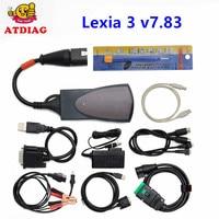 Lexia 3 v7.83 PP2000 921815C Tam Çip ile Lexia3 V48 PP2000 V25 Için Citroen/Peugeot Diagbox 7.83 TAM ÇIP teşhis Aracı