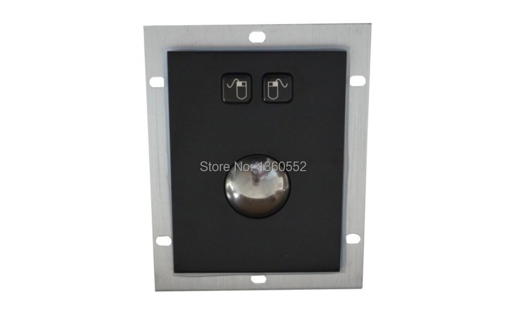 Black colour Metal Trackball stainless steel trackball PC Rugged Panel mount 38mm black Trackball Industrial Pointing