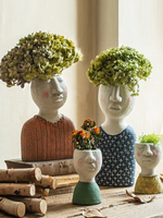 Poet's House Art Portrait Flower Pot Flower Grocery Garden Balcony Decoration Vase Decoration Home