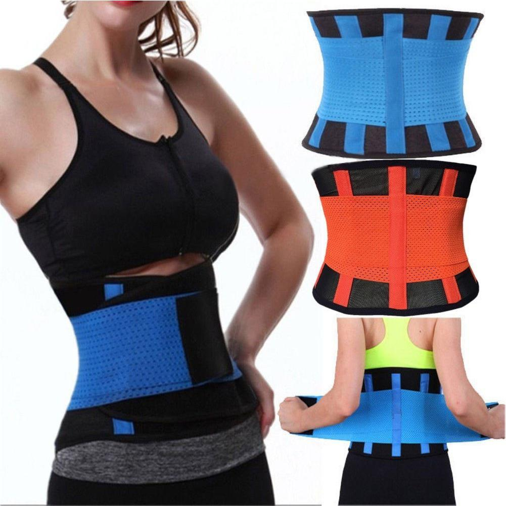 Women Fashion Slimming Belt Body Shaper Waist Trainer Trimmer Sport Gym Sweating Fat Burning Slimming Belt Fitness Belt
