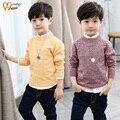 Fal de Comercio exterior 2017 Primavera Niños Moda Niños Prendas de Punto de Color de la Mezcla De Punto Suéteres ropa de Los Niños Masculinos Ropa A36