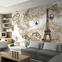 Great Wall 3d Map Of The World Eiffel Tower Large Wallpaper Murals For Living Room Papel