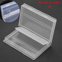 1 шт. прозрачная акриловая коробка для сверл для ногтей 20 отверстий пластиковая демонстрационная подставка контейнер для сверл выставочный держатель для сверл для ногтей