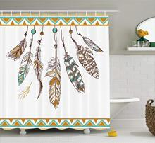 CHARM HOME Shower Curtain Authentic Graphic Eastern Old