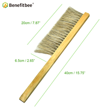Benefitbee Brand Beehive Tool Bee Brush Wood Handle Horse Hair Brushes Beekeeping keeping Equipment apicultura
