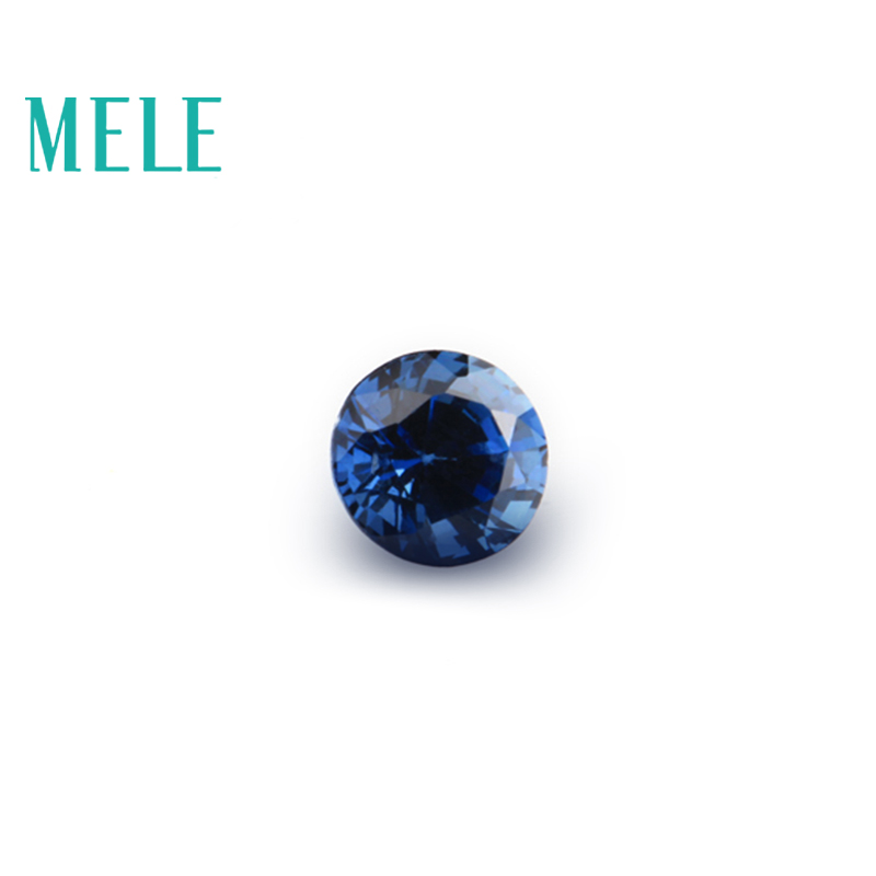 Natural Sapphire Loose Gemstone For Jewelry Making,2mmX2mm Round Cut,bright And Clean DYI Mian Stone