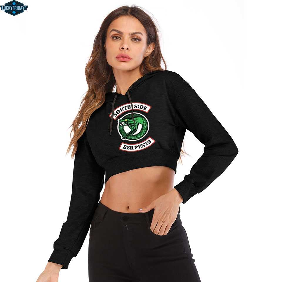 Riverdale Southside New Short Sexy Hoodies Ladies Women Fashion Sexy  Hot Pullover Sweatshirt 2019 clothes south side serpents