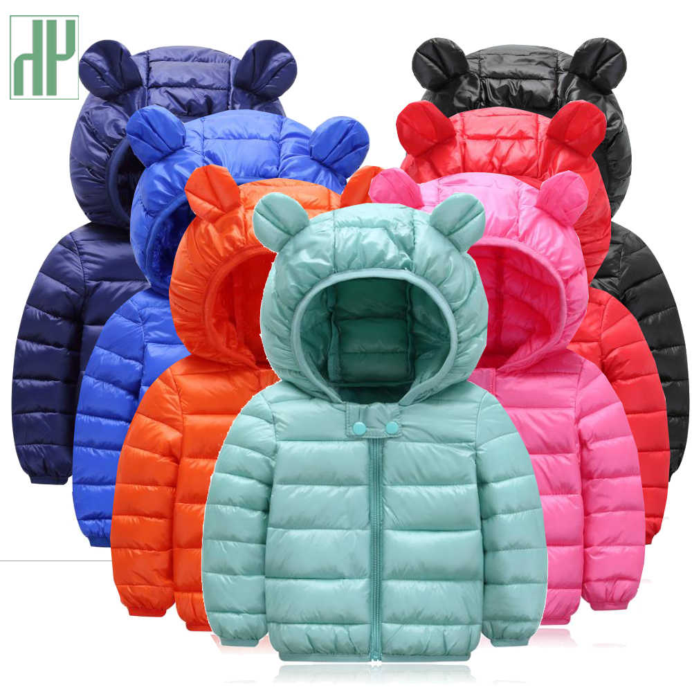 HH Girls winter coat Spring Autumn Kids Jacket Boys Hooded Outerwear enfant Baby Clothes Lightweight down cotton Parkas Children