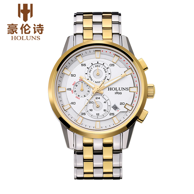Original Luxury Brand HOLUNS Carftsmaen Men Full Steel Band Watches Mens Mechanical Watch Clocks Business Male