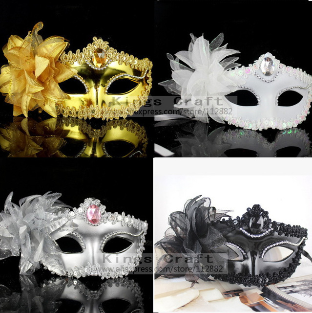 High Quality Side Flower Princess Masks, Halloween Venetian Masquerade Dancing Party MASK Free Shipping
