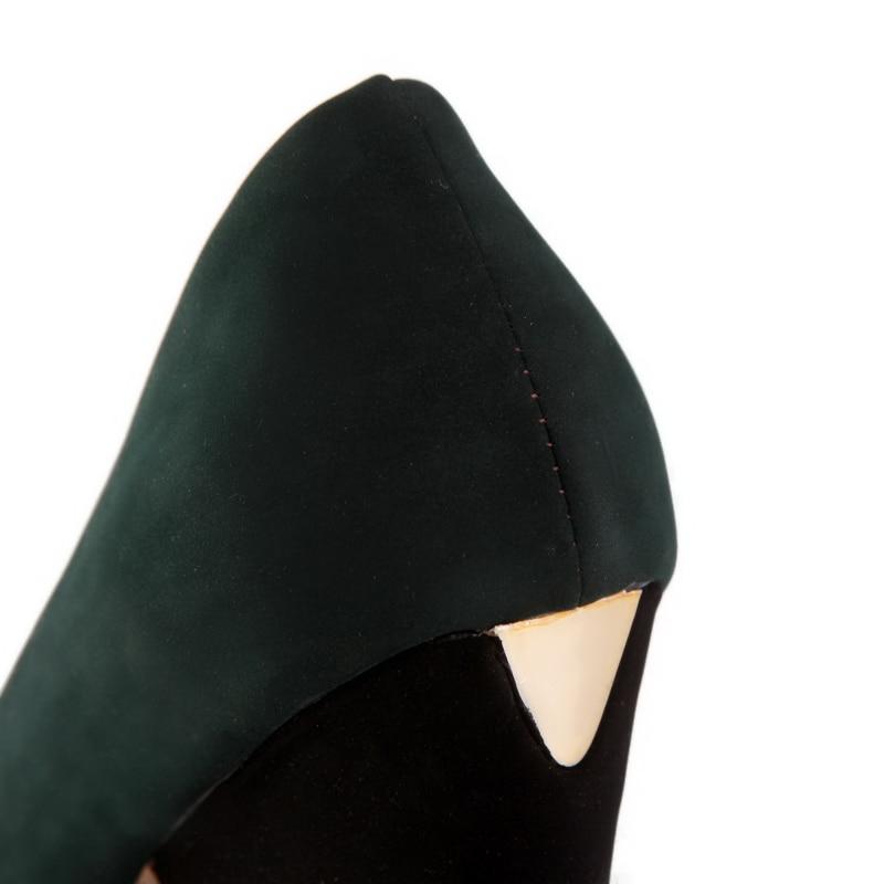 Talons Pompes Plate Slip Bout Chainingyee Mode Femmes De Noir Décontracté Chaussures Vert Correspondant Confortable Style À Hauts Black green Couleur Rond forme wXwSxaFAq
