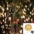 De cinco estrellas 22 M 200LED de la SECUENCIA Solar Powered Luz de La Secuencia de Hadas de la Navidad Luz de Navidad Fiesta de Jardín decoración Al Aire Libre