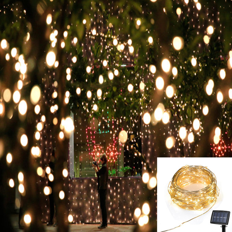 Five star 22M 200LED Solar Powered Copper String Light Christmas Fairy Light Xmas Party Garden Outdoor decoration